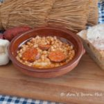 Haricot beans and chorizo